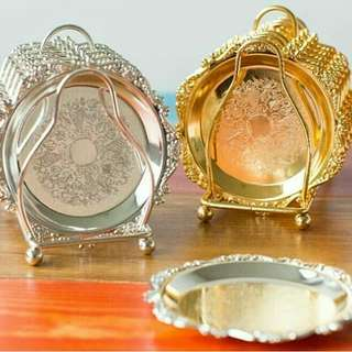 Gold Coasters/ Cup Cake Tray