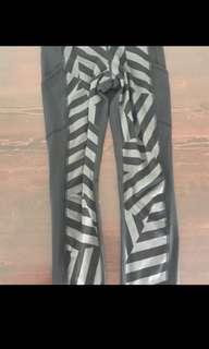 Xs/s striped Lululemon tights activewear