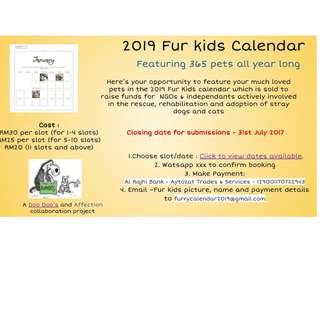 2019 Fur Kids Calendar