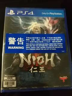 🚚 NEW PS4 NIOH 仁王 (HK Complete Edition, CHINESE/ ENGLISH/ JAPANESE) R3