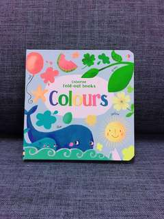 Usborne fold out books colours