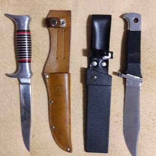 Unused old hiking knief 2 pcs