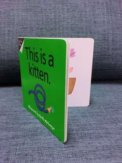 Hard cover flip flap book