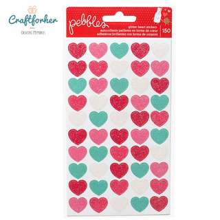 🚚 ♥Stickers♥ Glitter Heart Coloful Stickers 150Pcs by Pebbles