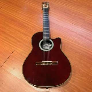 🚚 Ovation Applause AE34 Ruby Red Nylon String Guitar