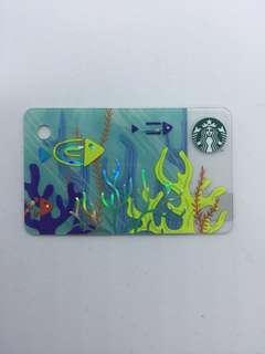 Starbucks Card Mini Fish Card / Under the Sea