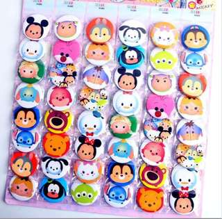Tsum tsum badges 12 pieces 3cm