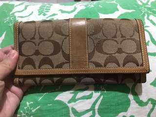 FIRM ON PRICE. Authentic Monogram Coach wallet