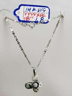 14k w/ dia necklace