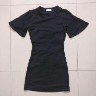 Empty Back Black Dress