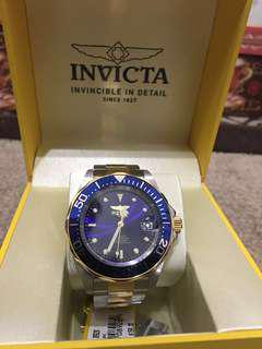 INVICTA Men's Pro Diver's Watch 200m Blue Two tone Silver/Gold