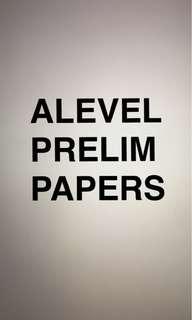 ALEVEL PRELIM PAPER