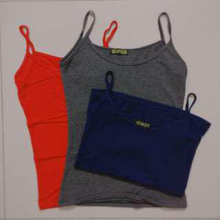 Navy Red and Grey Basic Singlet