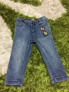 FOX BABY: Denim Jeans with badges
