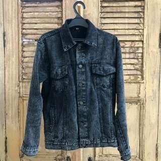 Jacket denim black washed