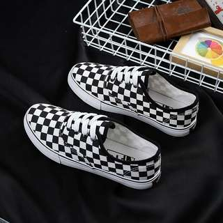 Checkerboard shoes