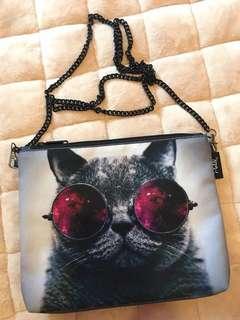 泰國品牌 i-Gen Bag 貓貓圖案防水斜咩袋 (貓控必備)