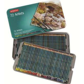 Derwent Artists Colored Pencils, 4mm Core, Metal Tin, 72