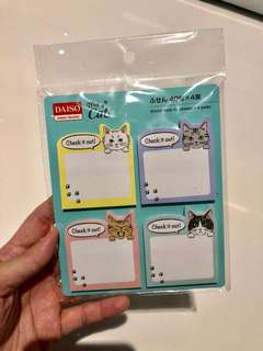 Notes Sticker cat