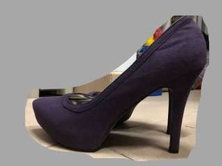 紫色高踭鞋38碼