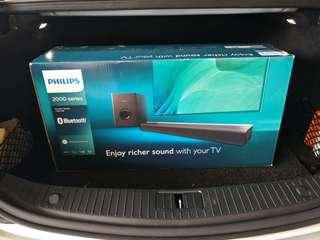 Philips Soundbar and Subwoofer