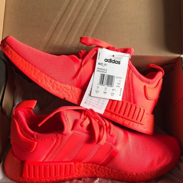 ee4db18408d87 Adidas NMD R1 Triple Red US 10.5 UK 10 brand new 100% Authentic off ...