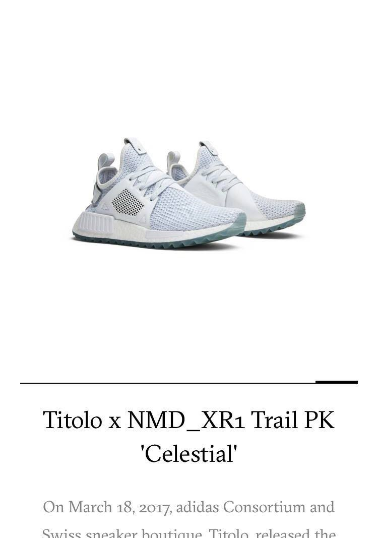 770e33d7 Adidas Titolo x NMD XR1 Trail PK Celestial, Men's Fashion, Footwear ...