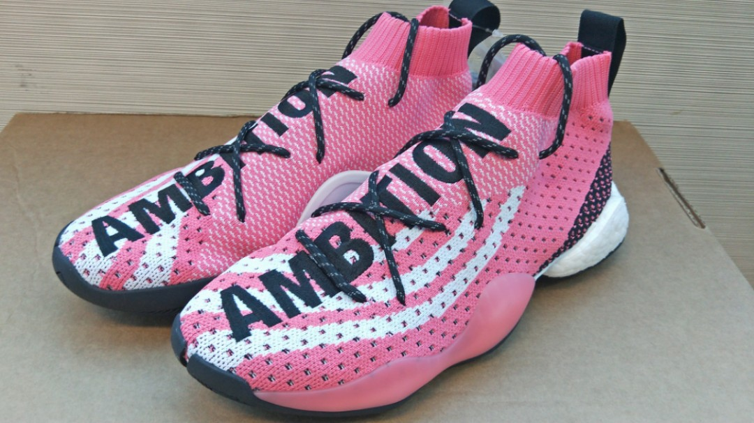 74409d983 Adidas X Pharrell Williams Crazy BYW LVL X AMBITION Chalk Pink ...
