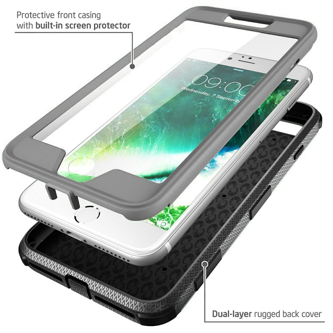 premium selection a7bcc 374b3 Armour iPhone 7/8 Plus Case + Built In Screen Protector