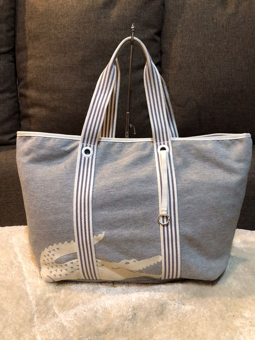 9aeaa768fcb Authentic Lacoste Large Canvas Tote Bag, Women's Fashion, Bags ...