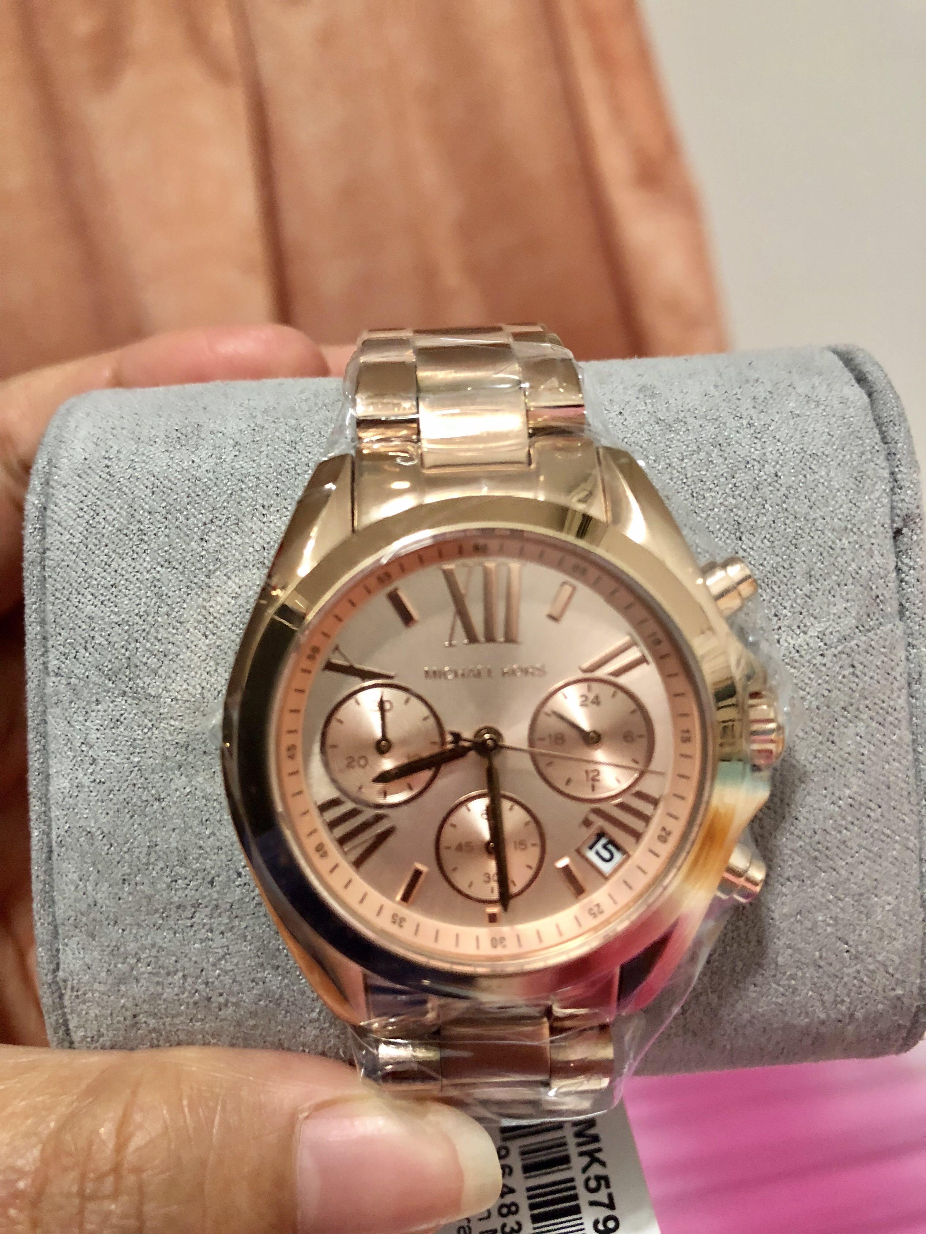 81d02ddfeba2 Authentic Michael Kors Watch MK5799 Mini-Bradshaw Rose-Gold Tone Stainless Steel  Watch