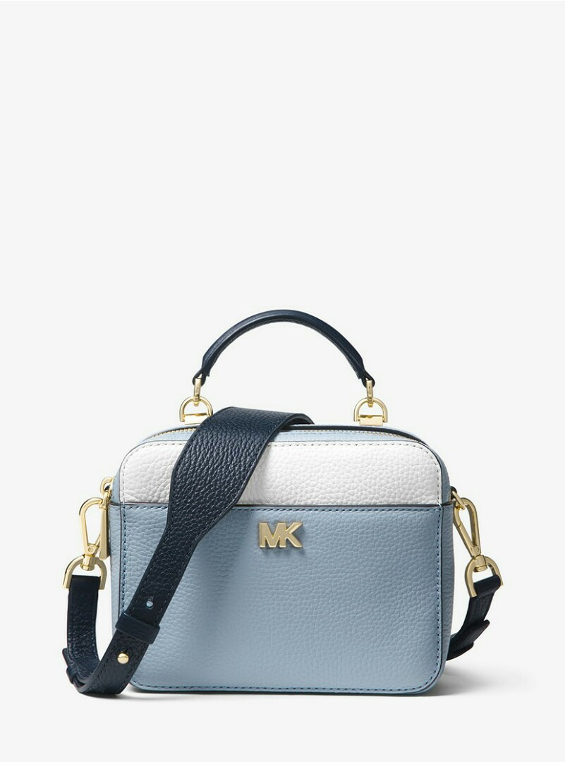 1680b4be686c0 Authentic MK Michael Kors Mott Mini Color-Block Pebbled Leather ...