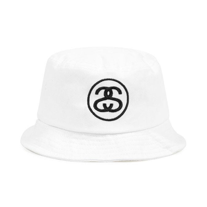 fa412c30 Authentic White Stussy Bucket Hat SS Link, Men's Fashion, Accessories, Caps  & Hats on Carousell