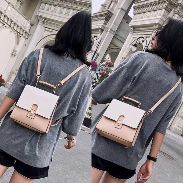 12e7e37dc02 Backpack / Sling Bag 2-way Small Boxy Korean Bagpack ulzzang kpop for women  office work ladies girl stylish elegant, Women's Fashion, Bags & Wallets,  ...