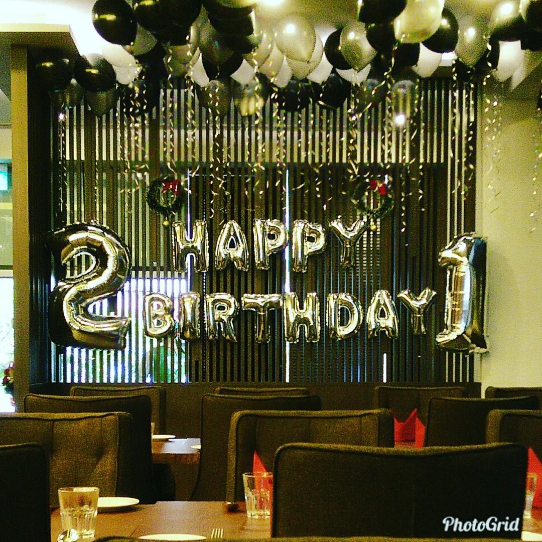 Birthday balloon deco for restaurant, Design & Craft, Others on ...