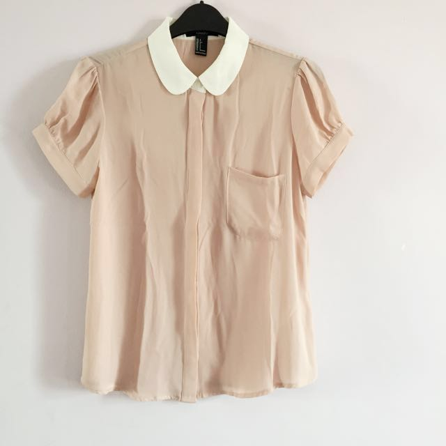256662e9821 BN F21 Blouse with Peter Pan Collar