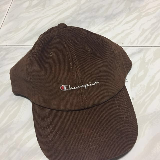 b1b77e6ac5f BNWT  Instock Rare Brown Corduroy Authentic Champion Baseball Cap ...