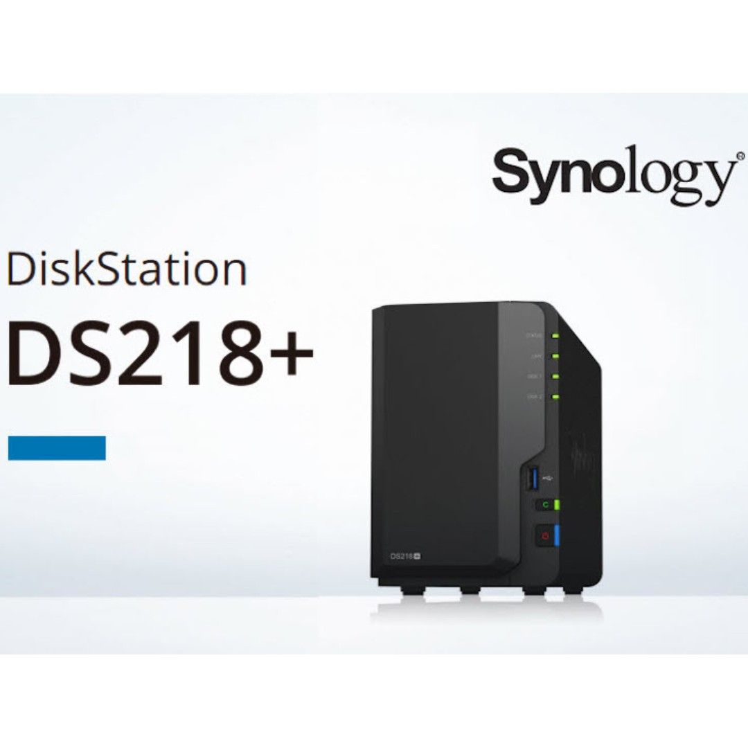 [SOLD OUT] Synology DiskStation DS218+ 2-Bay Diskless Network Attached  Storage (2GB DDR3L)