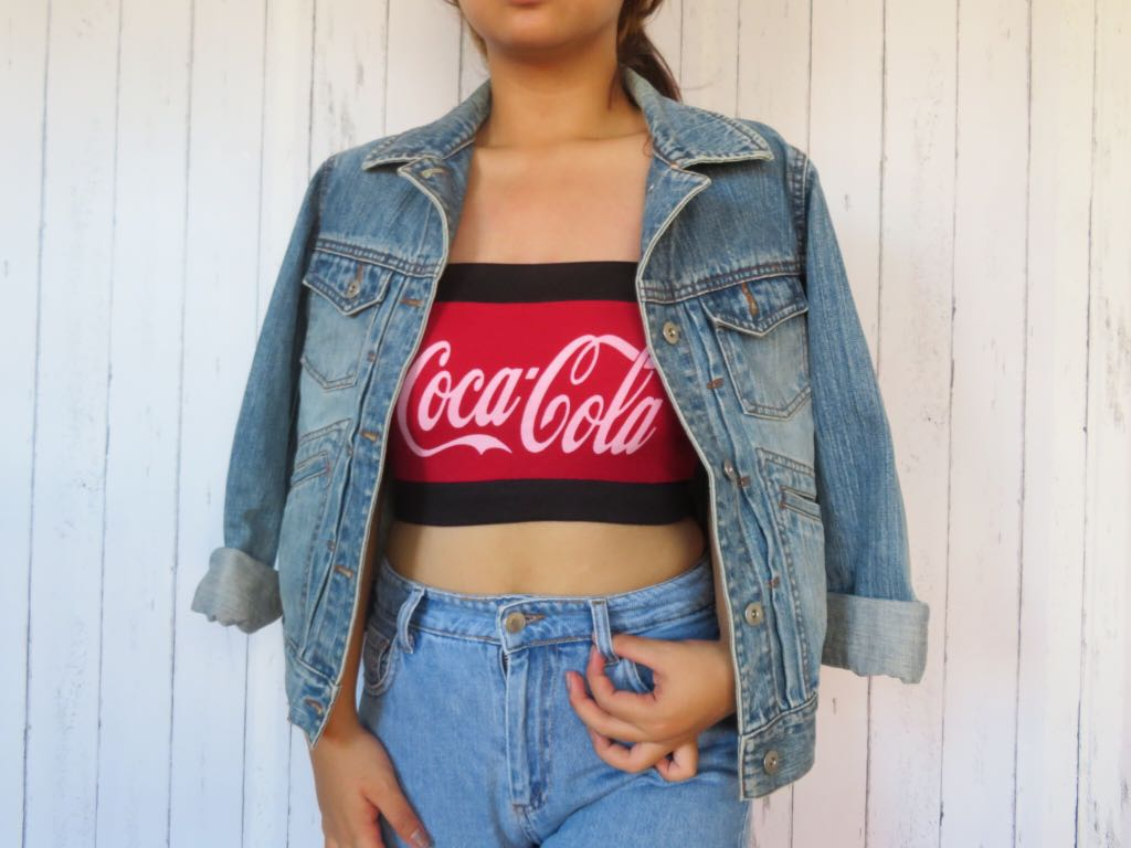 6d33047742a Coca cola tube top, Women's Fashion, Clothes, Tops on Carousell