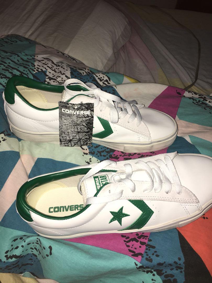 501917d3a1ff19 Converse pl 76 cons pro leather low white green leather men shoe ...