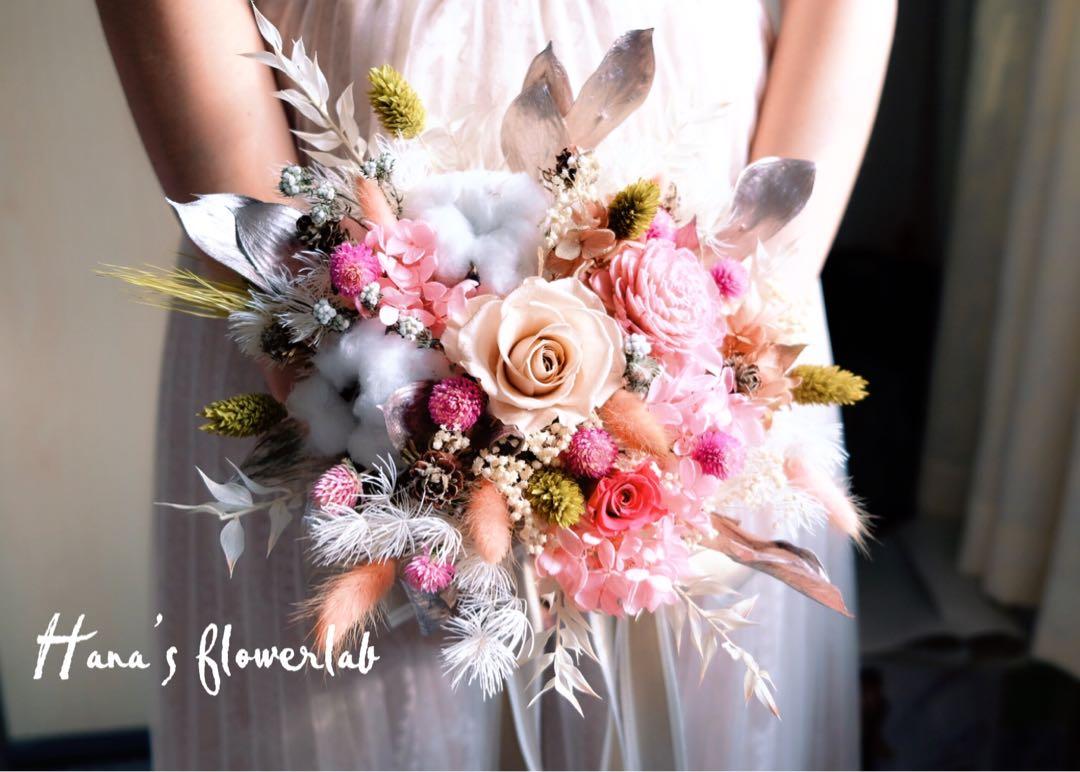 Flower Bouquet (Preserved Flower & Dried Flower), Gardening, Flowers ...