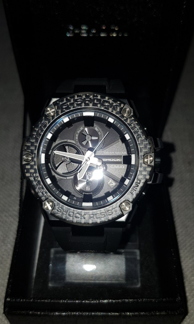 G Shock G Steel Carbon Bezel Gst B100x Men S Fashion Watches On