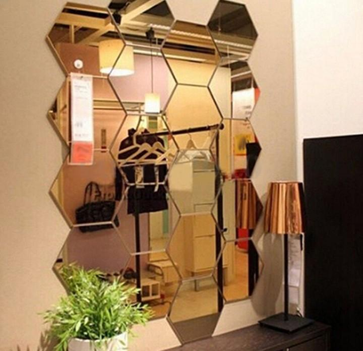 Hexagon Acrylic Mirror Furniture Home