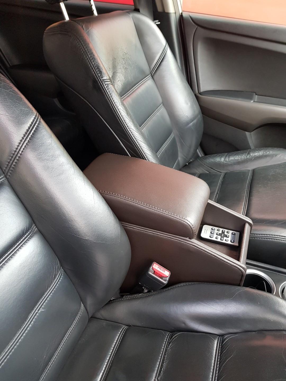 Honda Stream Rn6 Center Console Box Brown Pu Leather Car