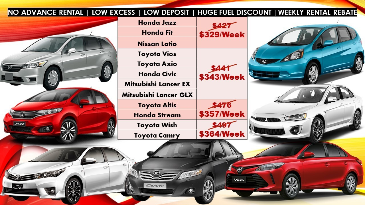 July Promo Only Budget Car Rental For Grab Personal Use Cars