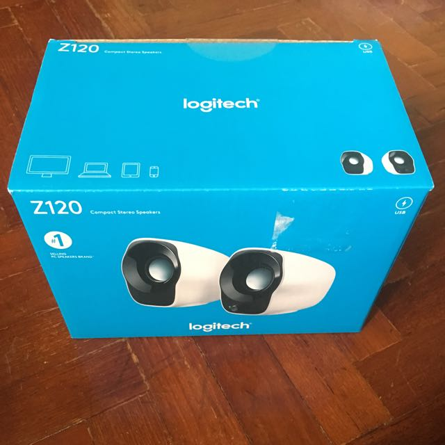 Logitech Z120 Compact Stereo Speakers, Electronics, Audio on Carousell