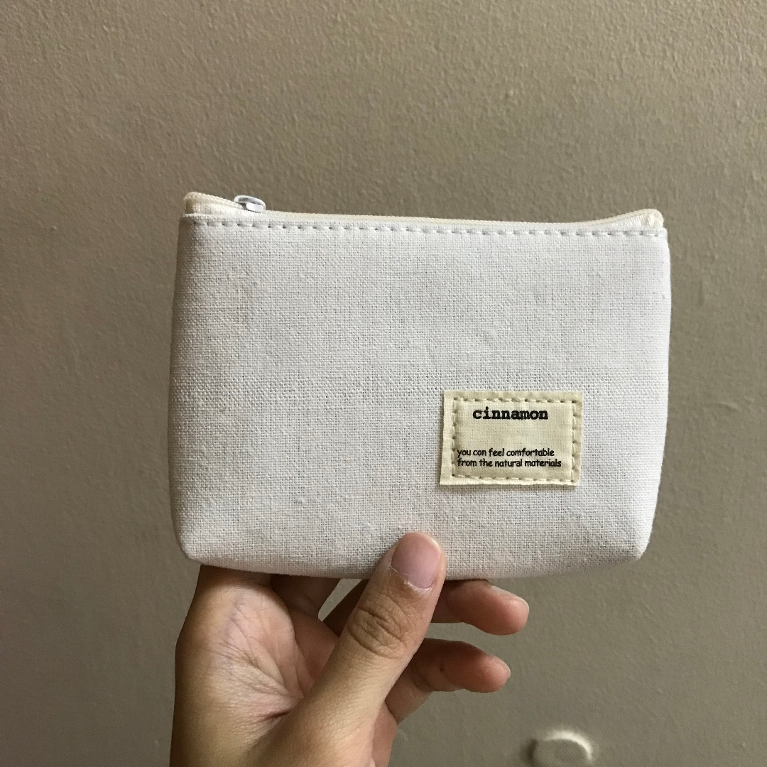 Mini White Canvas Fabric Coin Purse Women S Fashion Bags Wallets Wallets On Carousell