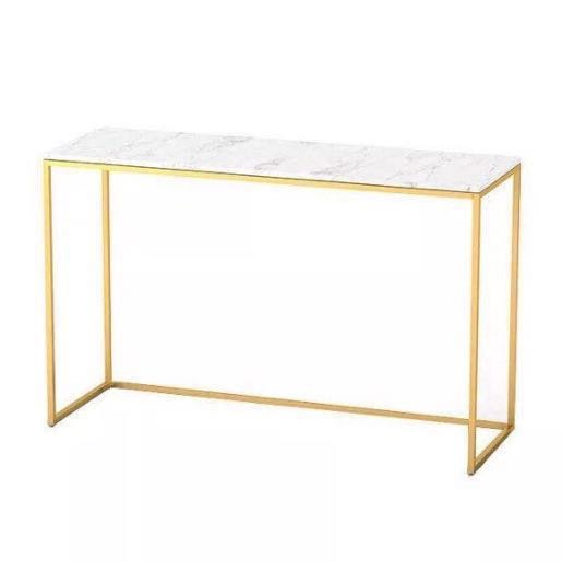 Nordic Marble Console Table With Gold Legs Furniture