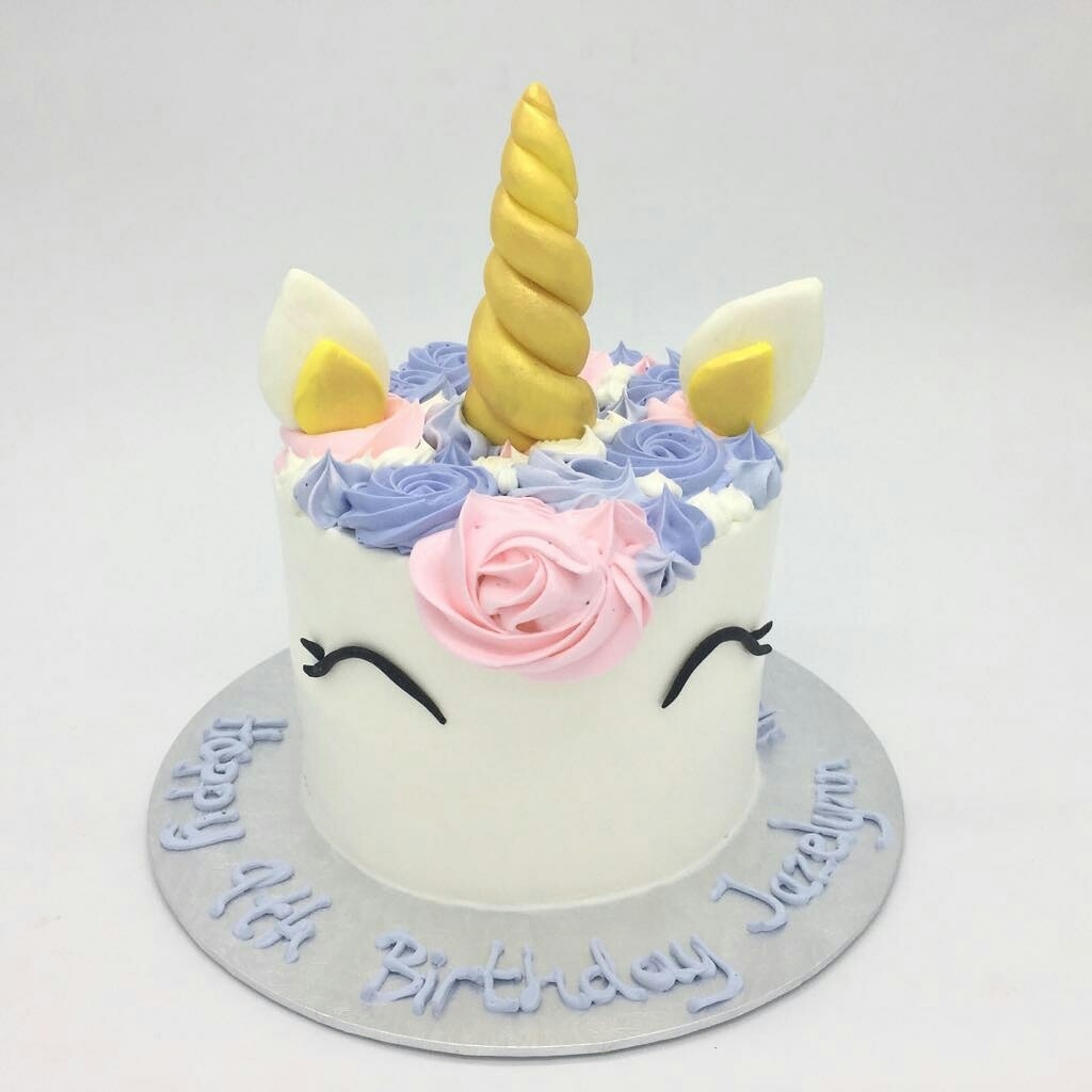 Pastel Pink And Purple Unicorn Cake Food Drinks Baked Goods On