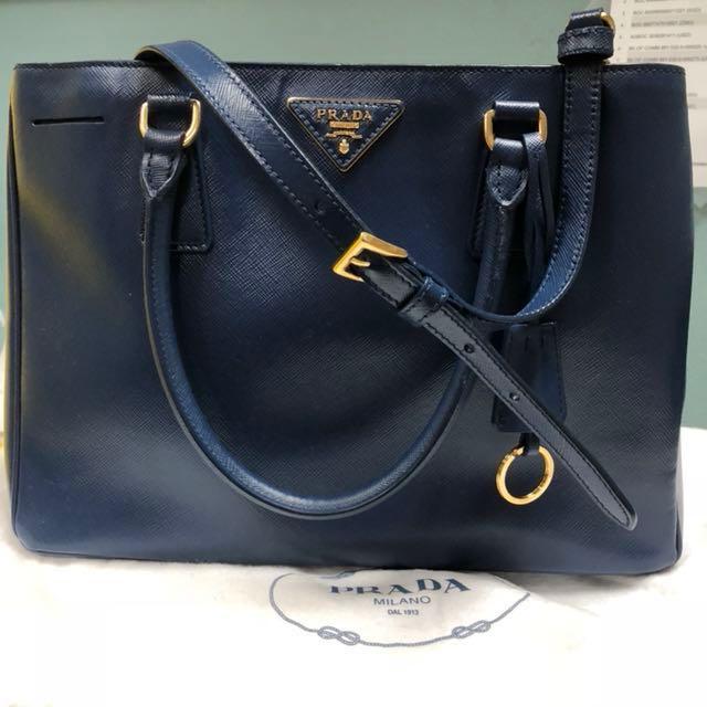 f5023fe489a9 Prada BN1874 Saffiano Lux Tote Bag - Bluette
